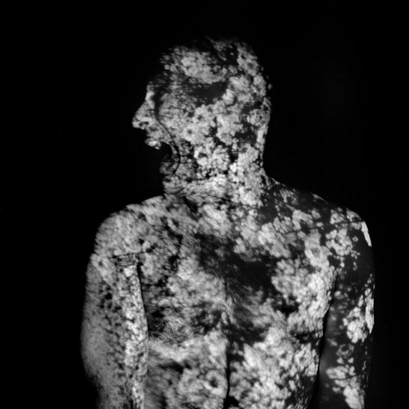 France, Paris, 2009, self-portrait and projection